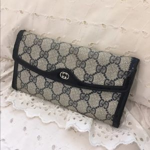Vintage Gucci blue and grey wallet